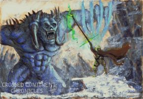 The battle in the mountains by Brollonks