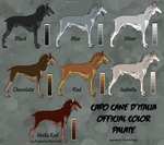 Classic Capo Cane D'Italia Color Chart by EhwazMaddoxKennels