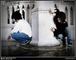 Death Note Cosplay: Beyond Birthday and L: Creepin by Redustrial-Ruin