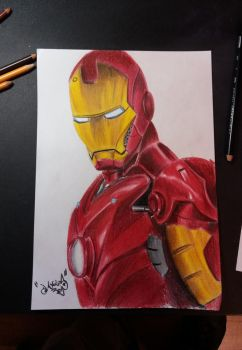 Iron-Man + speed drawing on yt by DanloS