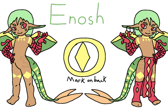 Enosh the Ebijin (MYO) by IronKnightKarkat
