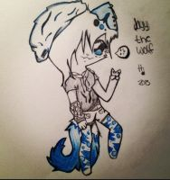 Jayy the wolf fursona by PrinceOfTimes