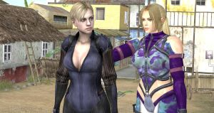 Jill Valentine and Nina Williams Meeting by cablex452