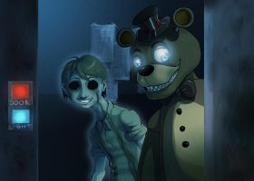 FNAF - Freddy and his ghost by LadyFiszi