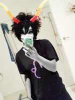 my gamzee cosplay makeup first try by GeNa524