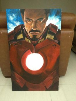 ironman poster by acrylic color by CaRieswG