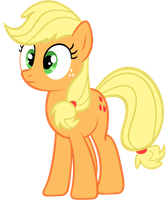 Hatless Applejack (Looking particularly shocked) by DrFatalChunk