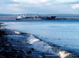 Tanker on the Firth by piglet365