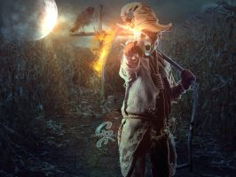 Scarecrow from hell by SPRSPRsDigitalArt