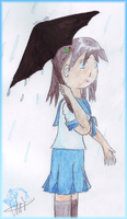 In the rain by totodos