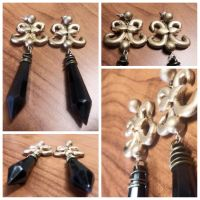 The Nega Moon's Earrings by vanity101