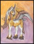 Original: Watercolor and Ink Alicorn 2015 by AirRaiser