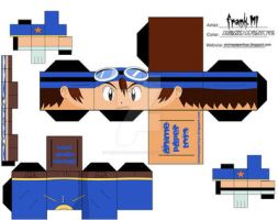 tai - digimon cubee by animepapertoys