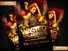 Wasted Thursdays Flyer Template PSD by Industrykidz