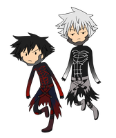 KH Time! - Vanitas and Remnant by infinitehearts
