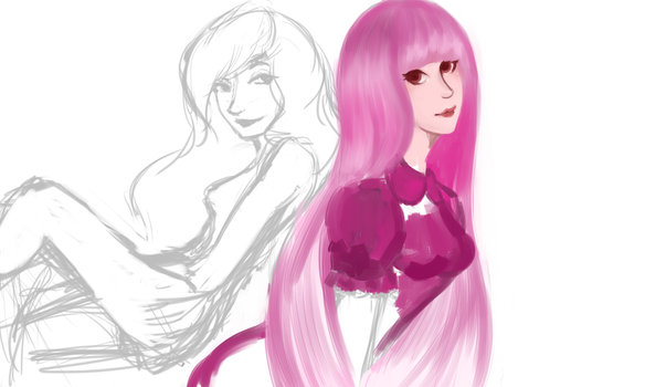 Princess Bubblegum and Marcy (WIP) by SarahDealerEvans