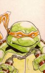 365 days of superheroes 037 Michelangelo by berniecooke
