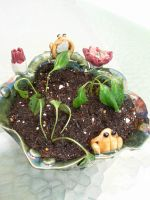 Frog flower pot2 by gotvegan