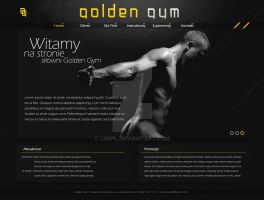 Golden Gym - website layout by IjinPL