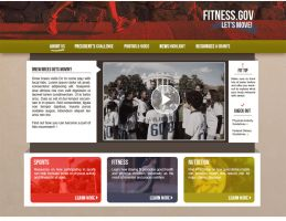 Fitness Homepage Concept by onyxlovechild