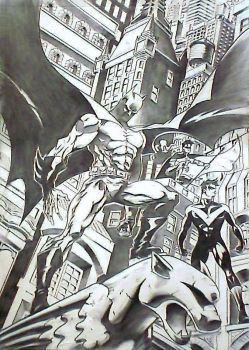 Batman,Robin and Nightwing by mindsetteler