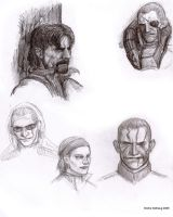 MGS doodles by s0fus-snk