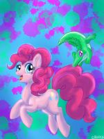 Pinkie and Gummy by GreyscaleRainbowXx