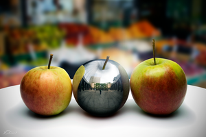 Steel Apple Manipulation Wallpaper by YeshuDave029