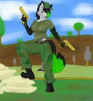 Pin up ... With guns ! by mirokiwolf
