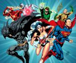 Justice League double page by geraldohsborges