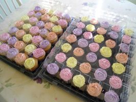 Rose Cupcakes by PnJLover