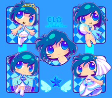 Sailor Mercury Outfit Designs by chicinlicin