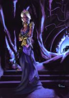 Comission : Drow Priestess by pulyx