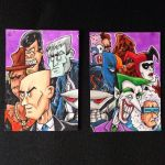 DC Villains puzzle sketch card by johnnyism
