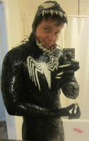 Me in my venom costume by symbiote-x