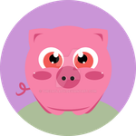 Piggy Button by TheCatlady