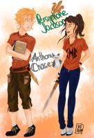 GenderBending Persephone Jackson and Anthony Chase by renkaz