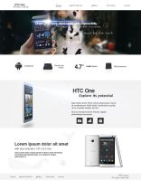 HTC One promo web by fOXBLASTER