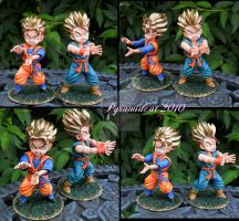 Goten and Trunks Model Kit by Pyramidcat