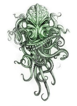 Cthulhu Tentacles Colour by ZeroFoxFaceless