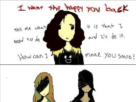 I want the happy you back by zendevil