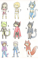 46 Adoptable Closed by AkiraInugamiWolf