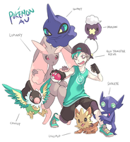 Aebr : Pokemon AU by mowtei
