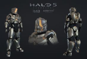 Halo 5 Multiplayer Armor Hellcat by polyphobia3d