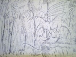 Dragon in the woods by EloiseS16