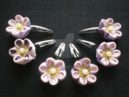 Violet Blossom Clips by Corselia