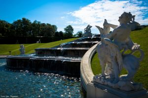 Wien - Belvedere Palace fountain by Dragon-Claw666
