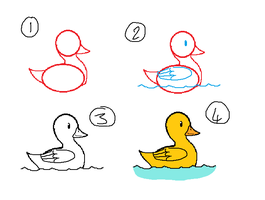 How To Draw A Duck by kittyproc