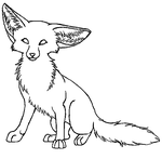 Fennec Lineart by wolfforce58