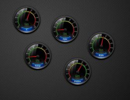 Glossy Gauge Mini Widgets Pack 2 for xwidget by Jimking